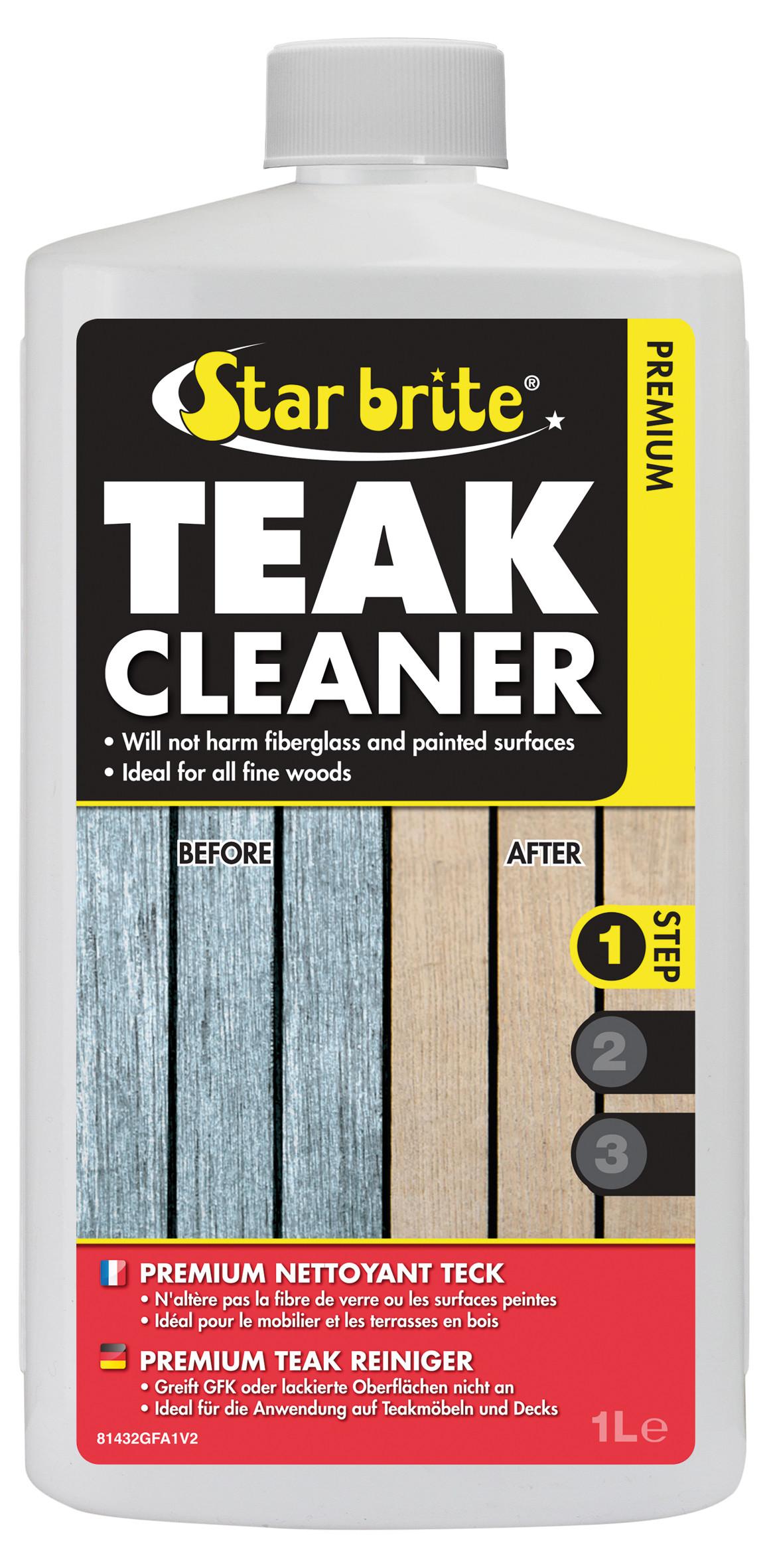 Produit Pour Nettoyer Terrasse En Bois produit de nettoyage pour teck, teak cleaner, 1 l